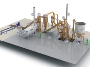 Линия по переработки отходов животных в топливные гранулы